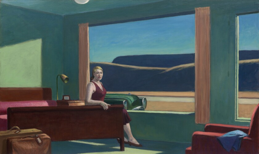 """Western Motel,"" 1957, Edward Hopper"