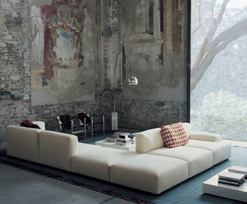 Piero Lissoni's Mex Cube is a seating system that can be configured for any space.