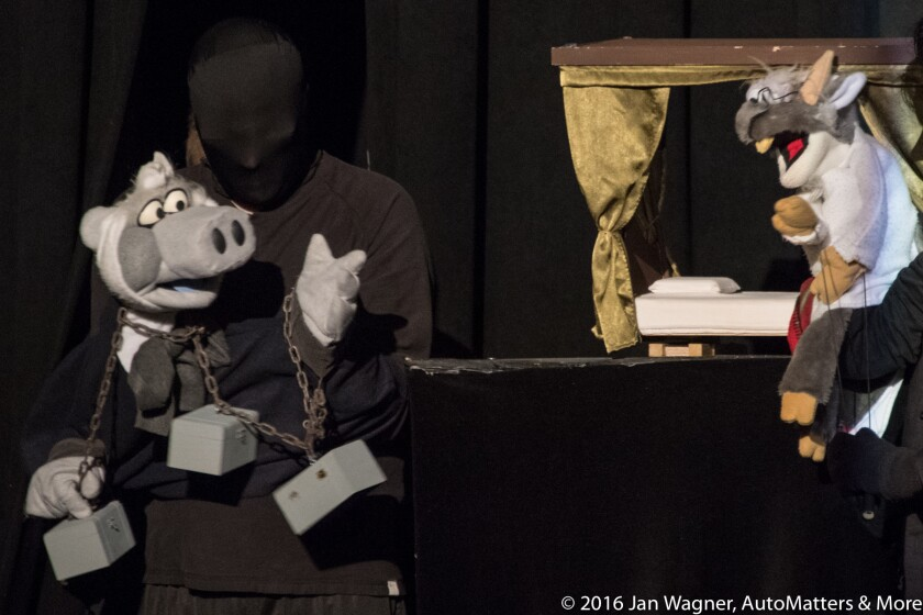 Christmas Carol performed in the Marie Hitchcock Puppet Theater