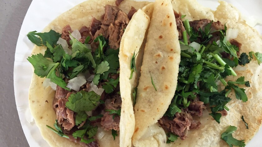 Head to El Faro Plaza in Vernon for the birria, tacos and