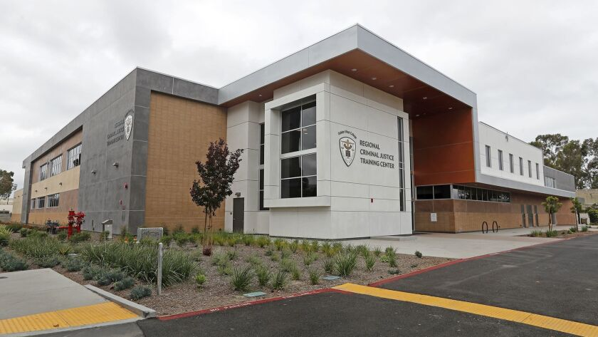 The new criminal justice training center at Golden West College in Huntington Beach was completed earlier this year.