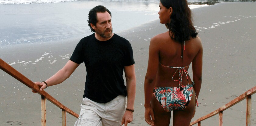 """Demian Bichir, izquierda, y Sasha González en una escena de """"Danyka"""" una película de Michael Rowe"""