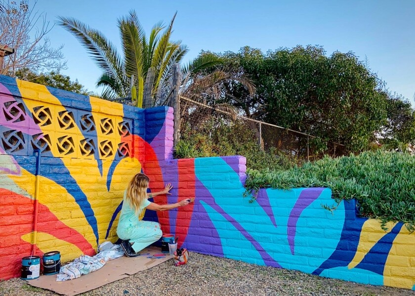 Ivanoff's latest mural took four days to complete.