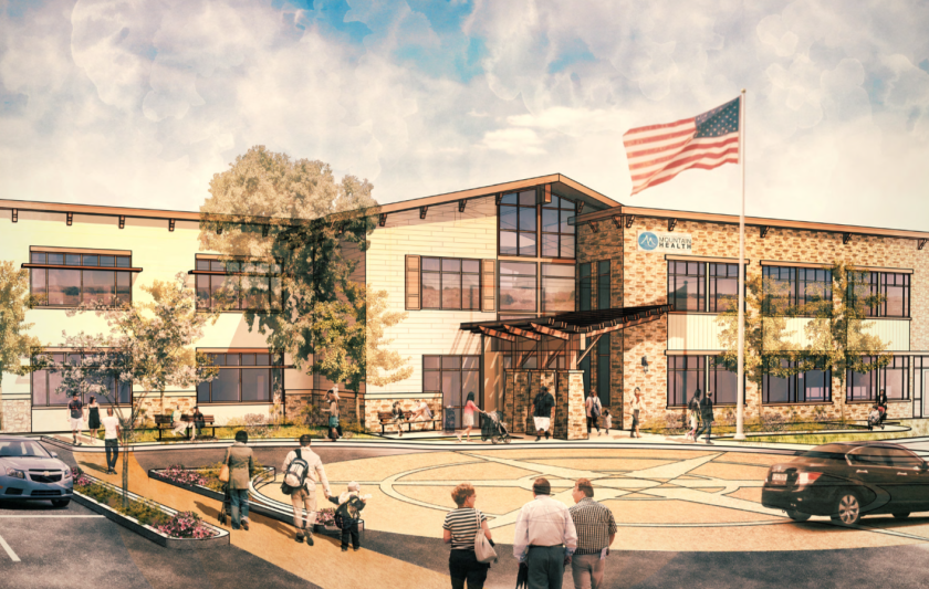 An artist's rendering of the coming 23,500-square-feet health clinic in Campo.