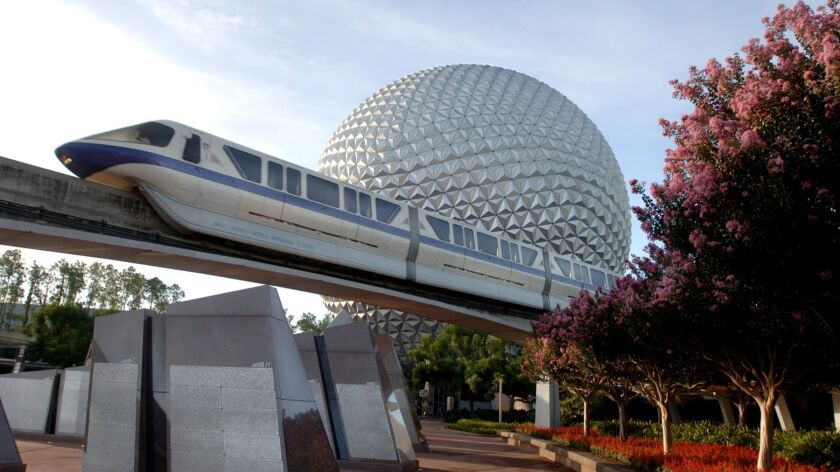 Spaceship Earth at Walt Disney World's Epcot, a park Sklar was instrumental in shaping.
