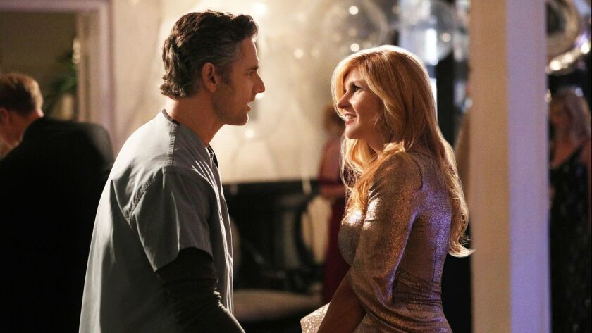 "DIRTY JOHN -- ""Approachable Dreams"" Episode 101 -- (L-R) - Eric Bana as John Meehan and Connie Britton as Debra Newell in a scene from ""Dirty John."" Credit: Jordin Althaus/Bravo"
