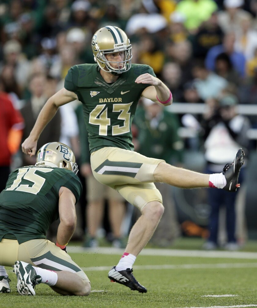 Baylor K Aaron Jones Kicking Up Ncaa Record The San Diego Union Tribune