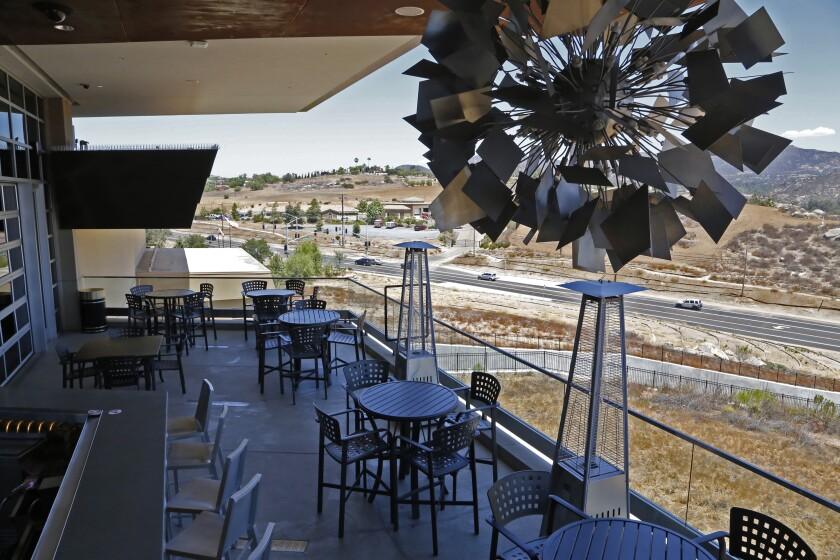 Jamul Casino's Loft 94, which is getting a revamped menu, has an outdoor patio.