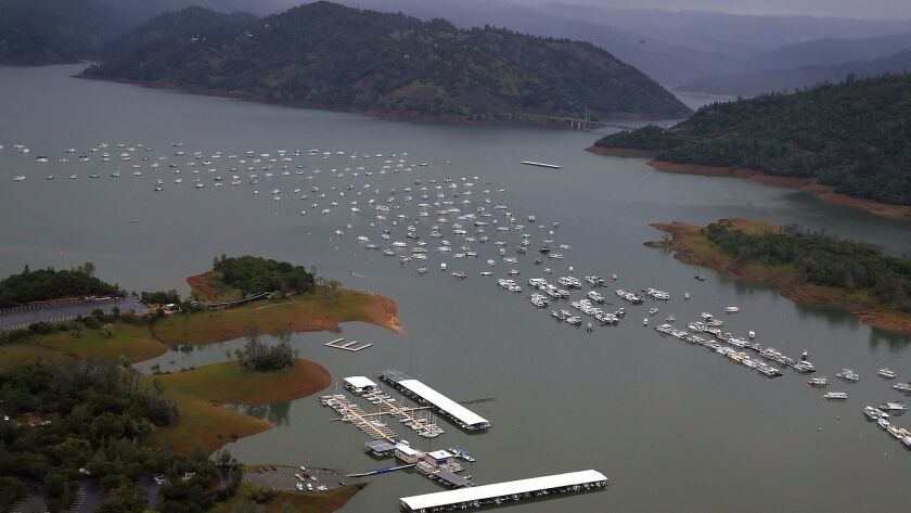 OROVILLE, CA - APRIL 11: A view of Bidwell Marina at Lake Oroville on April 11, 2017 in Oroville, C