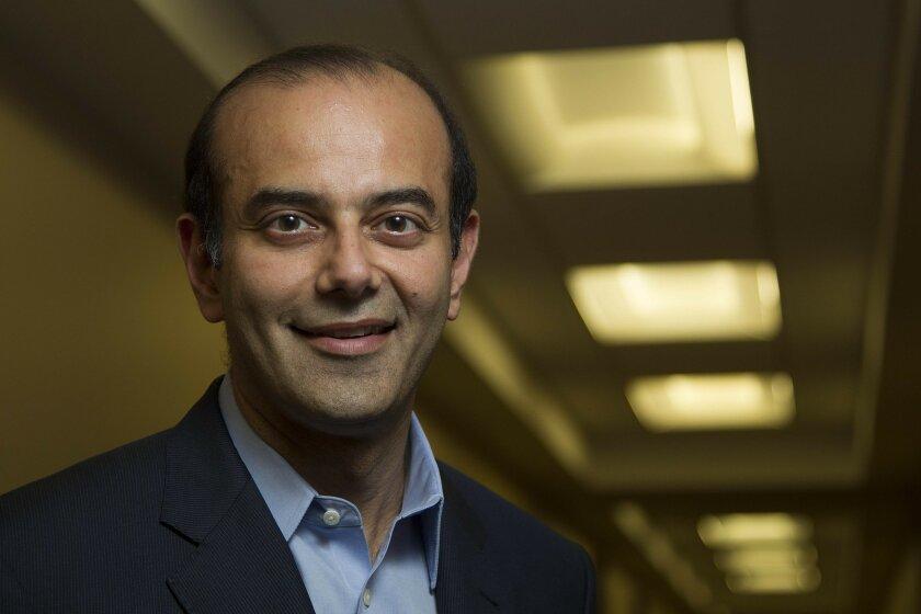 Pratik Shah is president and CEO of Auspex Pharmaceuticals in San Diego. / photo by Sean M. Haffey * U-T San Diego