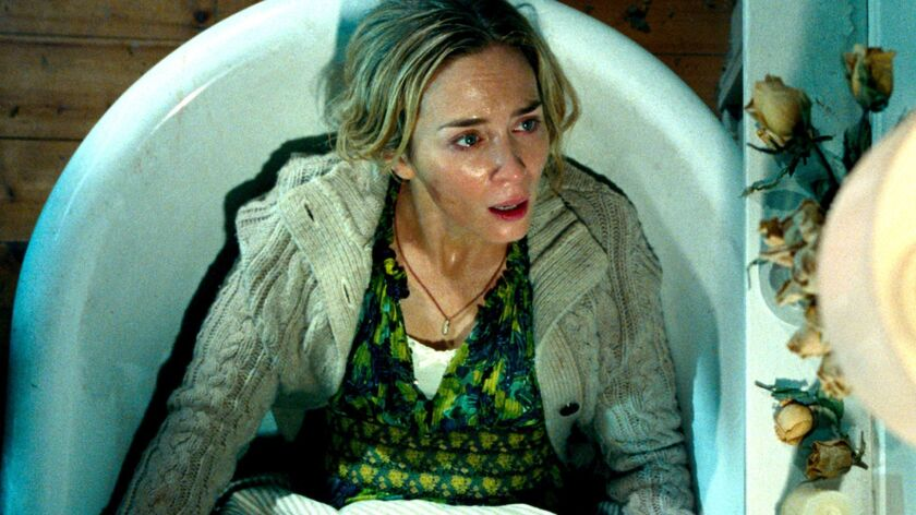 """Emily Blunt plays Evelyn Abbott in """"A QUIET PLACE,"""" from Paramount Pictures. Credit: Jonny Cournoyer"""