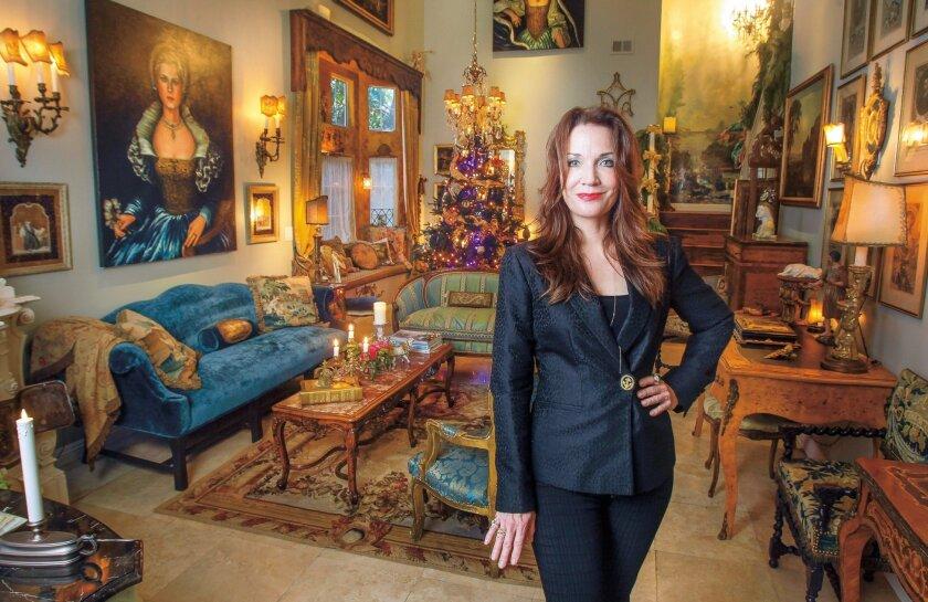 Jennifer Chapman in her Carlsbad living room.
