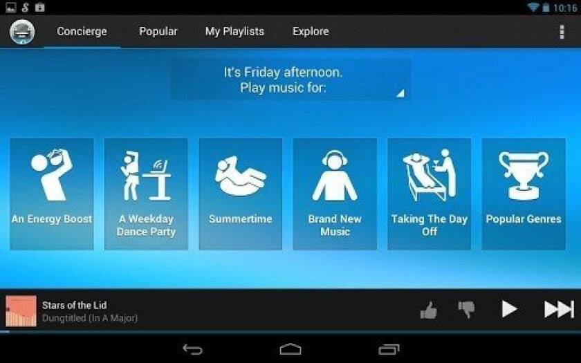 Working? Relaxing? At the gym? Songza plays you the right music for any mood.
