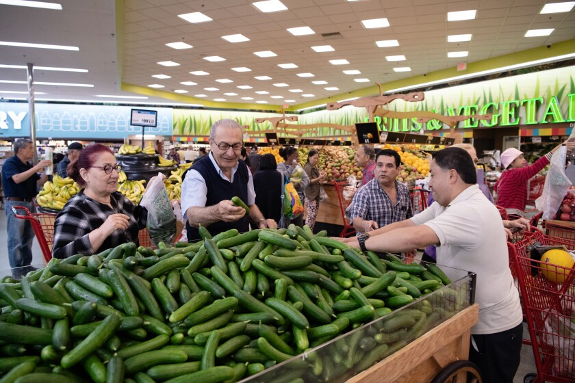 Cucumbers at Super King market