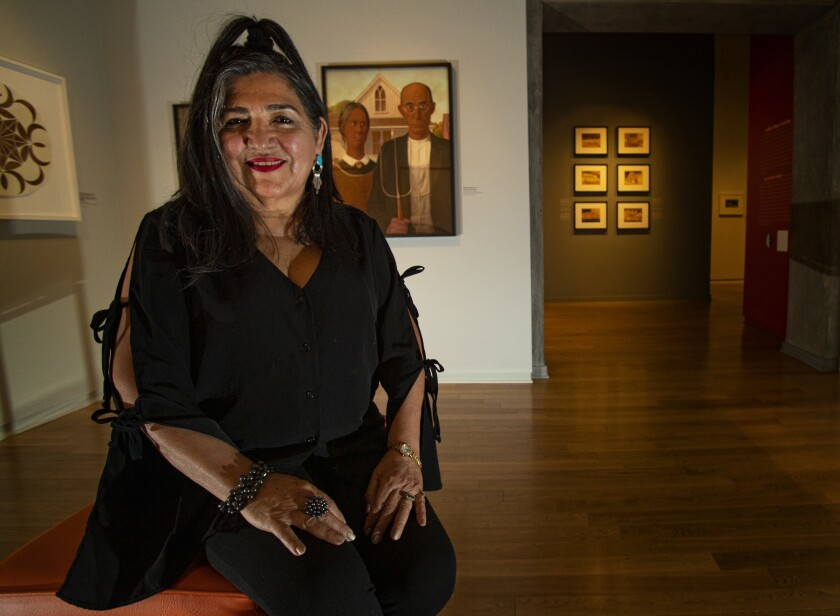 "Artist Linda Vallejo's ""Brown Belongings"" show is at LA Plaza de Cultura y Artes in downtown L.A."