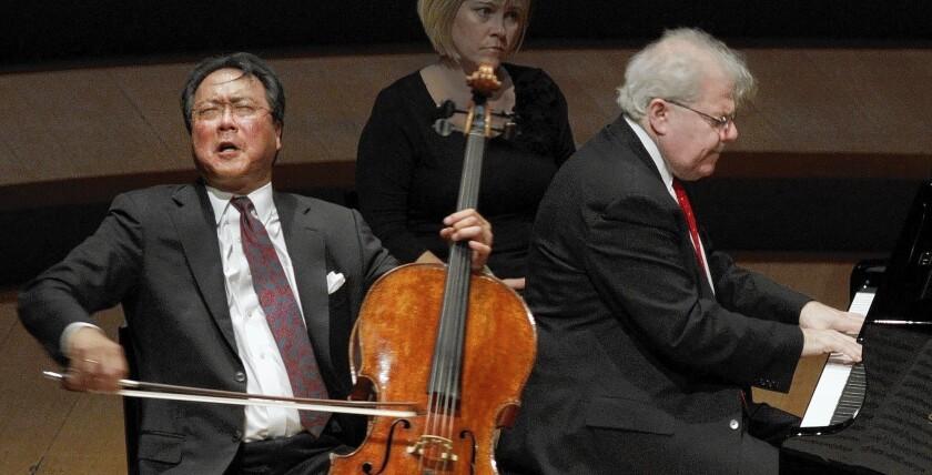 Music review: A brilliant Brahms duo of Yo-Yo Ma and Emmanuel Ax