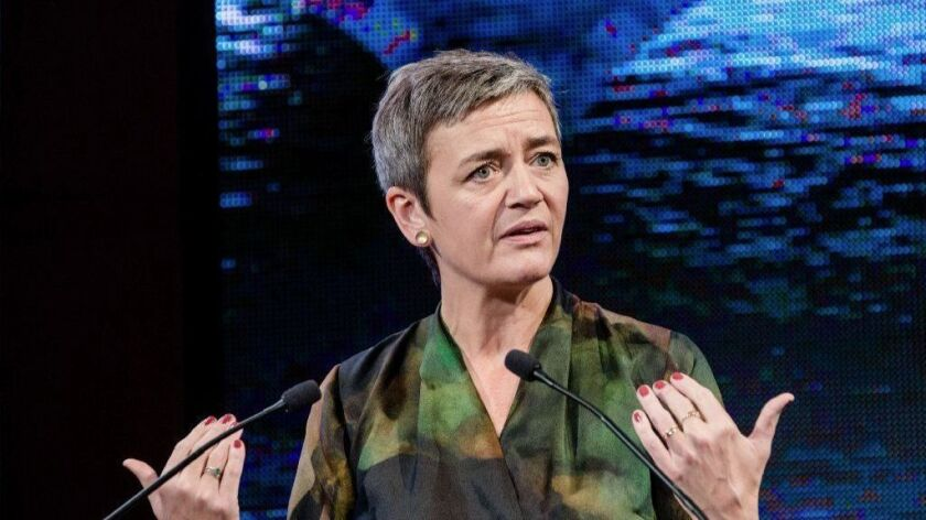 Margrethe Vestager, competition commissioner of the European Commission, in Paris on Nov. 21.