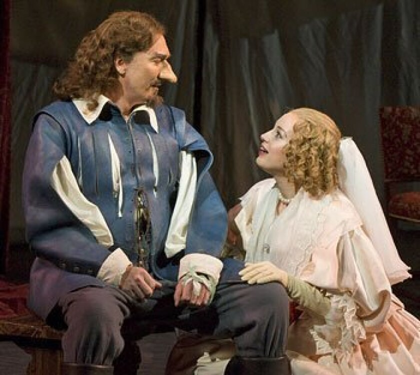 """Patrick Page and Dana Green in the Old Globe's Summer Shakespeare Festival production of """"Cyrano de Bergerac."""" (Craig Schwartz)"""