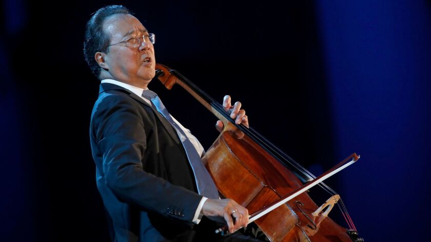 Yo-Yo Ma playing the six Bach cello suites at the Bowl.