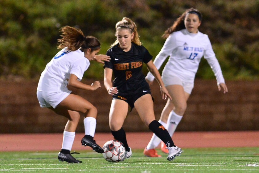 Torrey Pines scored a 3-0 nonleague victory over West Hills last week.