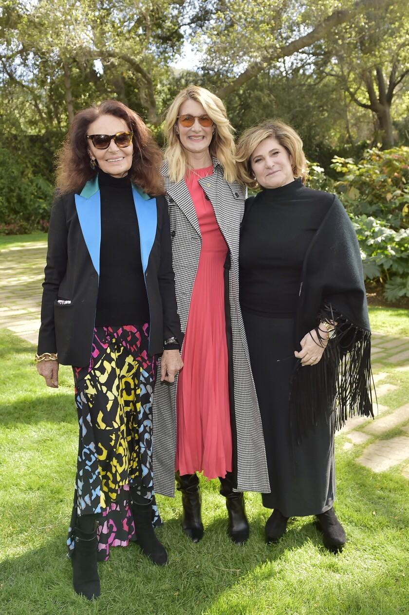 Diane von Furstenberg, Oscar nominee Laura Dern and producer Amy Pascal