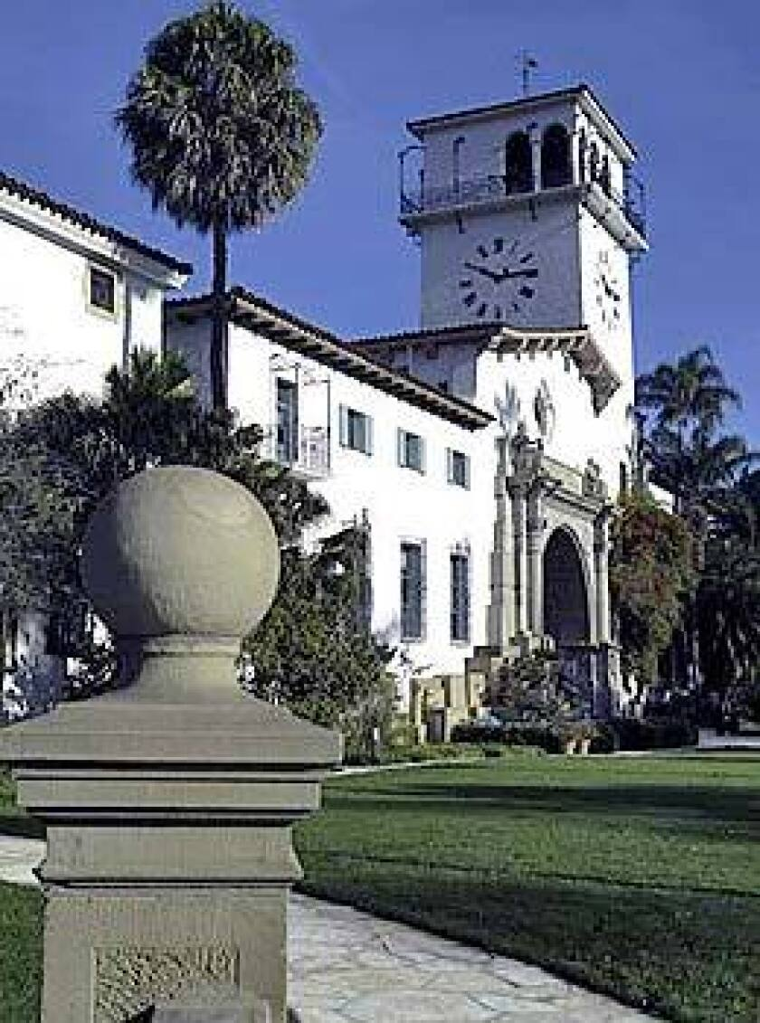 The Santa Barbara County Courthouse is an offbeat mix of Moorish, Italian and Spanish Colonial styles.