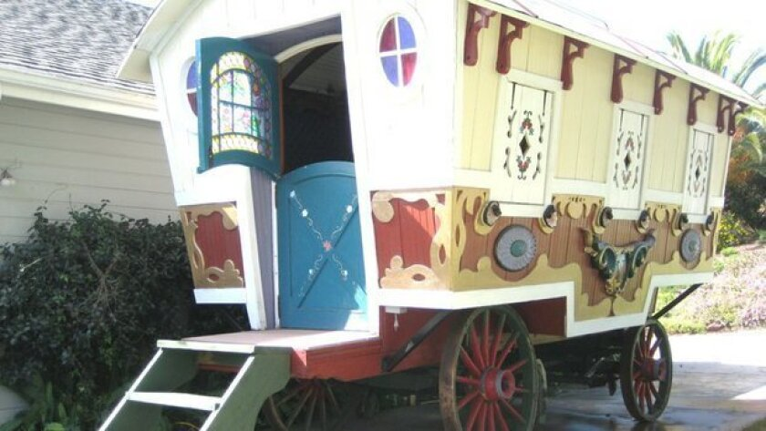 A gypsy vardo restored by a Fallbrook family was used in a Pee-wee Herman movie and is for sale.
