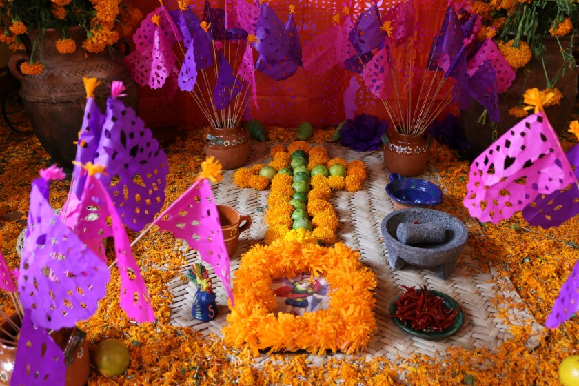 Day of the Dead altar in Tequila, Mexico