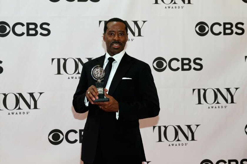 """Vance was named best featured actor in a play for his role in """"Lucky Guy."""""""