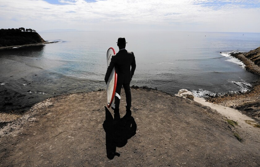 Sef Krell is an attorney and a surfer who said he was harassed last year by 'Bay Boys' who try to drive away visitors who come to surf at Lunada Bay in Palos Verdes. He filed a police complaint but the case has not been solved.