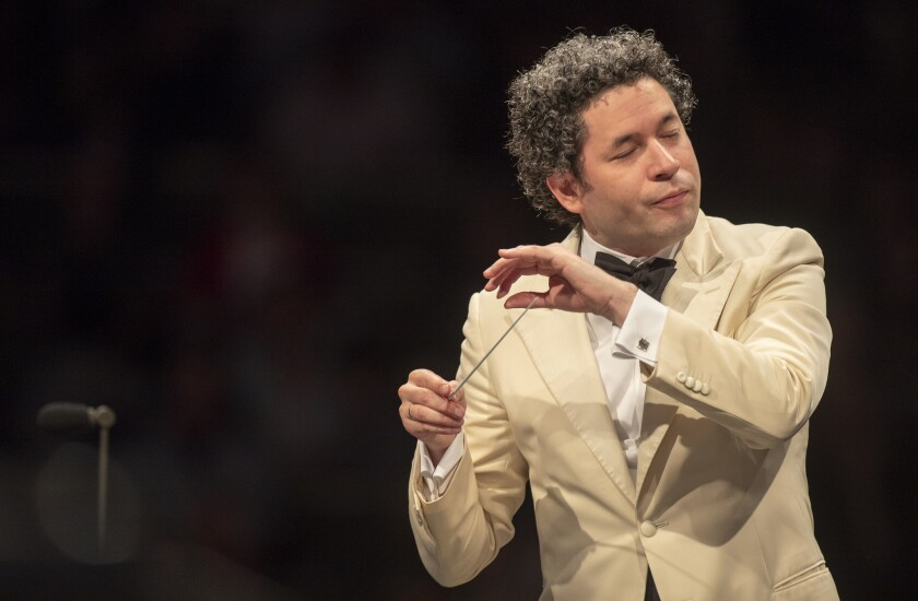 LOS ANGELES, CALIF. -- TUESDAY, AUGUST 14, 2018: LA Philharmonic music director Gustavo Dudamel cond
