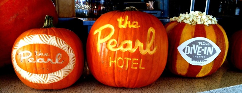 Halloween Pumpkin Carving Contest at The Pearl Hotel.