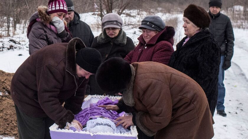 Fighting between government forces and Russia-backed separatist rebels has escalated recently.
