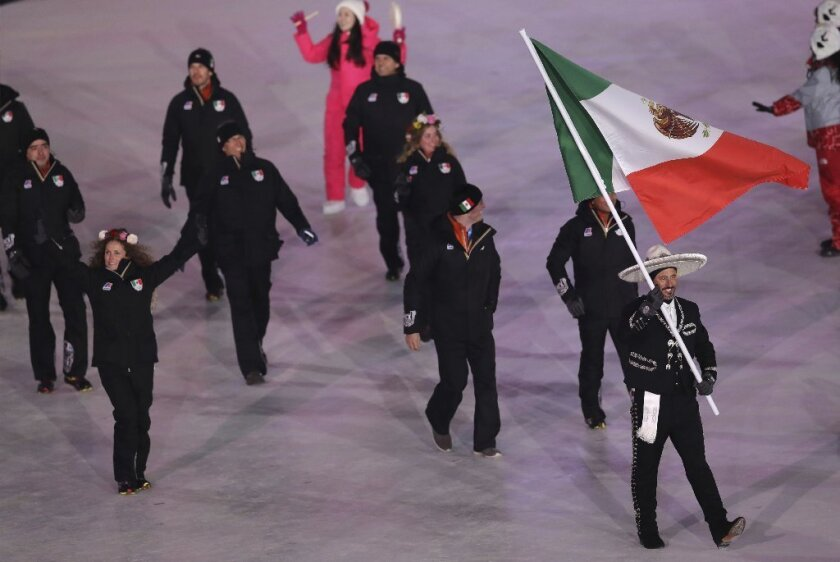 Mexico team at the 2018 Winter Olympics in Pyeongchang