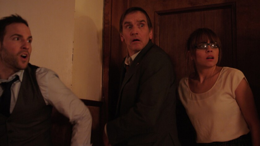 """(L-R) - Matthew Nadu, Bill Mosely and Ashley C. Williams in a scene from """"The Church."""" Credit: Hard"""