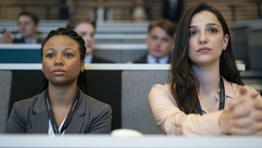 """Myha'la Herrold and Marisa Abela in """"Industry"""" on HBO."""