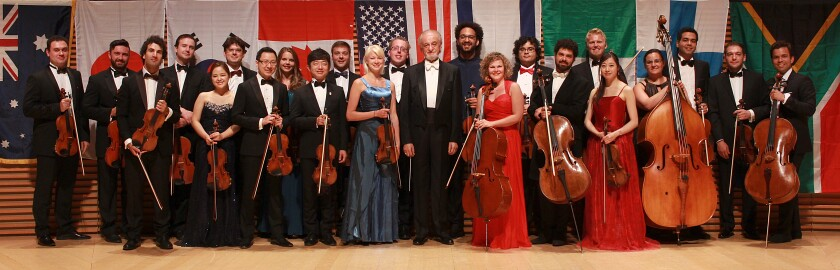 The acclaimed iPalpiti Orchestra performs at the Conrad Prebys Performing Arts Center in La Jolla on July 18.