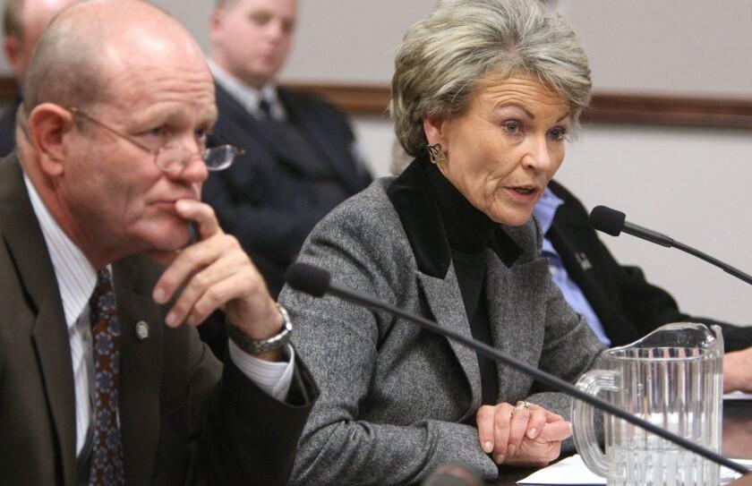 Pat Mulroy testifies at a state Senate hearing