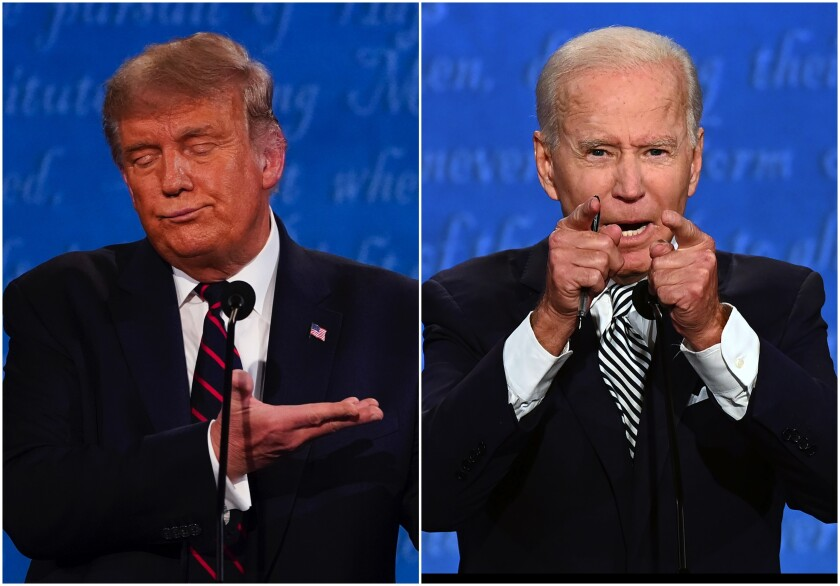 President Donald Trump and Democratic nominee Joe Biden face off in Cleveland, Ohio for the first 2020 presidential debate.