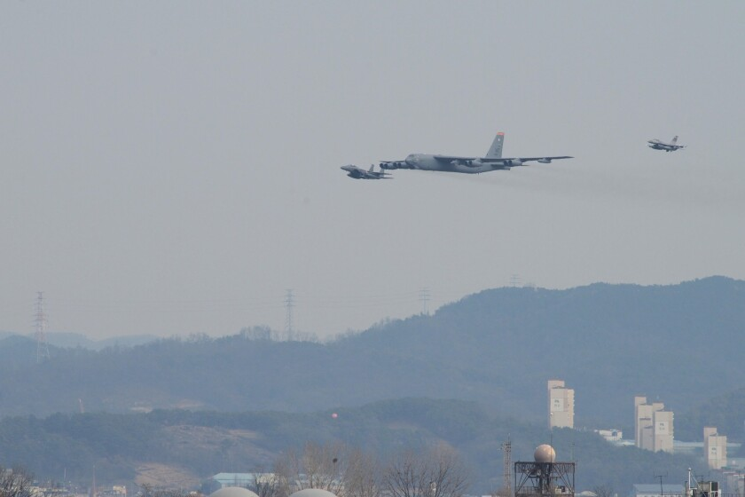 B-52 flies near North Korea