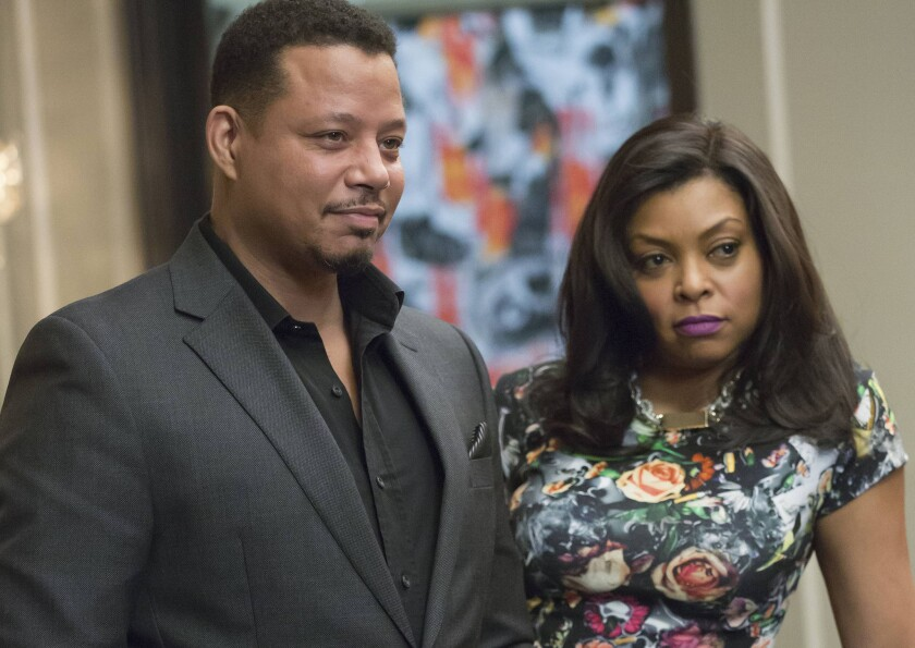 """Terrence Howard, left, and Taraji P. Henson in an episode of """"Empire."""""""