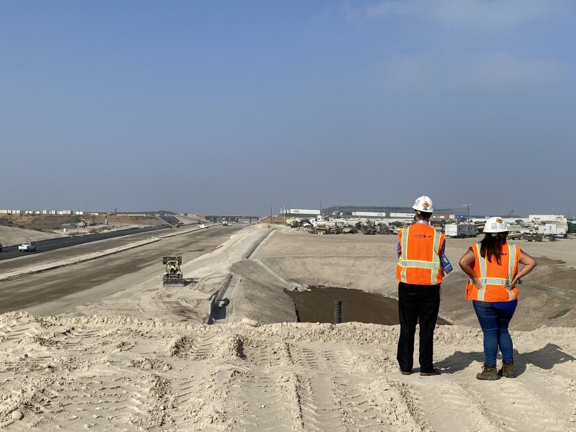 Work began in October to pave the last stretch of the SR-11 that will connect to a new port of entry in Otay Mesa.