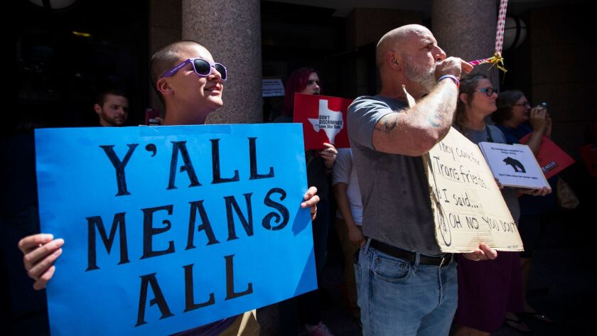 Transgender Texans turn out by the dozens for special session 'bathroom bill' debate