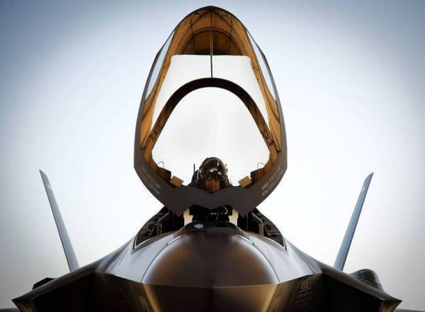 The Air Force says it has a shortage of 200 fighter pilots this year. And if something isn't done, the Air Force, which has about 3,000 fighter pilots, fears it may face a shortfall of 700 by 2021. Above, Lt. Col. Benjamin Bishop completes preflight checks in March before his first sortie in an F-35A Lightning II at Eglin Air Force Base in Florida.