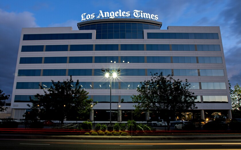 The Los Angeles Times building in El Segundo