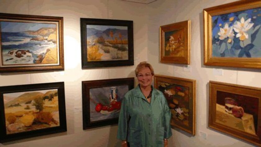 Pat Hunter and her work.