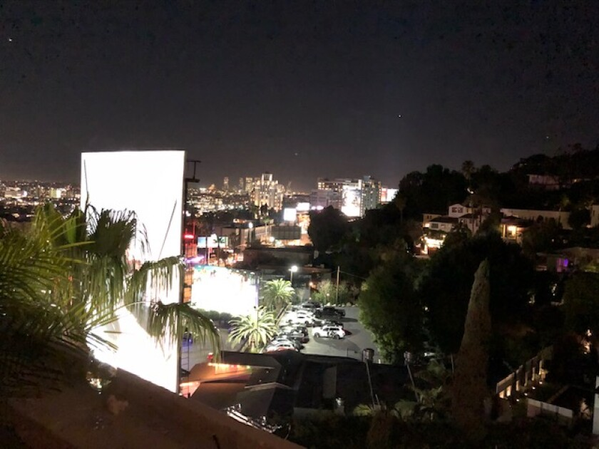The view from the Chateau Marmont penthouse terrace.