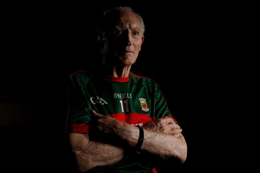 SAN JUAN CAPISTRANO, CALIF. -- TUESDAY, AUGUST 21, 2018: Padraig Carney, 90, former Gaelic Footballe