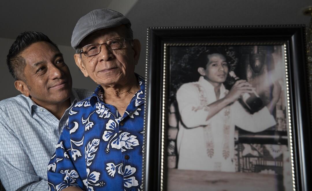 Noel Casimiro, left, and Arturo Catacutan Casimiro