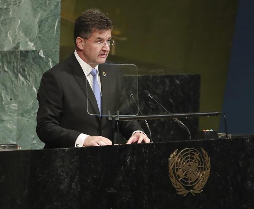 Hoy, en la apertura de las negociaciones, el presidente de la Asamblea General de la ONU, Miroslav Lajcak, pidió a los países que piensen en el bien común y sean flexibles en sus posturas. EFE/Archivo